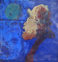 """Vicente Martín  """"Gaucho y luna"""" Serigrafía P/A Prueba de Artista 45 x 42 cm.  http://www.portondesanpedro.com/ver-producto.php?id=12888"""