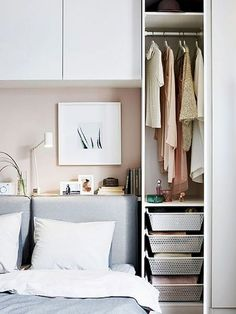 Trendy bedroom storage for small rooms organizations baskets ideasTrendy bedroom storage for small rooms organizations baskets ideas Ideas bedroom storage ideas for small spaces diy hacks Ideas bedroom storage ideas for small spaces Bedroom Storage For Small Rooms, Cozy Small Bedrooms, Small Apartment Storage, Ikea Bedroom Storage, Small Apartment Bedrooms, Small Bedroom Designs, Closet Bedroom, Trendy Bedroom, Home Decor Bedroom