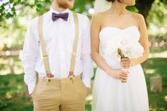 suspenders and khakis for groom(smen)