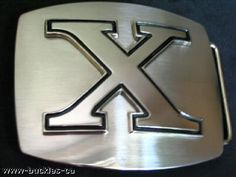 LETTER INITIAL NAME X CHROME BELT BUCKLE BELTS BUCKLES