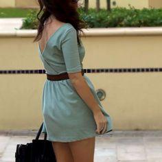 Zara Mint Crossover Back Skater Dress