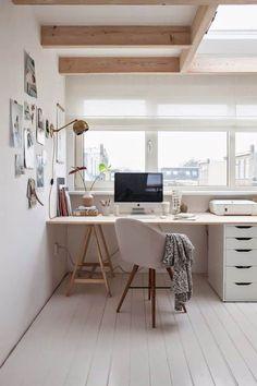 Woodville | Blog | Een inspirerende thuiswerkplek inrichten Home Office Space, Office Workspace, Home Office Design, Home Office Decor, Home Design, Interior Design, Home Decor, Design Ideas, Office Ideas