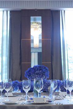 アジサイの青の装花 ホテルニューオータニ アザレア様へ
