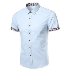 Men Shirt 2018 Summer New Arrival Solid Color Cotton Dress Shirt Fashion Casual Slim Social Business Office Short Sleeves Shirt Casual Shirts, Casual Outfits, Men Casual, Men Dress, Dress Shirt, Cotton Dresses, Shirt Style, Men Shirt, Long Sleeve Shirts