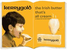 Old Irish ad for butter. Old Irish, Irish American, Photo Boards, Irish Recipes, Food For Thought, Butter, Experiential, How To Make, Cows