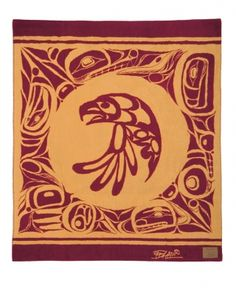 Bill Helin Vicuna Blanket - The Eagle - Alaska Trading Company Native Carvings And Jewelry