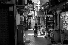 One of the side alleys of the impressive Dubai Gold Souk. Hundreds of people walking by without a moment's glance.