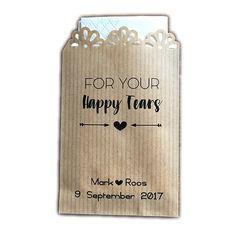Happy Tears zakje (40st) met je eigen naam