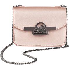 MEZZANOTTE BAROLO (€185) ❤ liked on Polyvore featuring bags, handbags, shoulder bags, pink purse, pink handbags, pink shoulder bag, saffiano leather handbags and shoulder bag purse