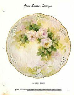 Jean Sadler China Painting Study 64 Roses | eBay
