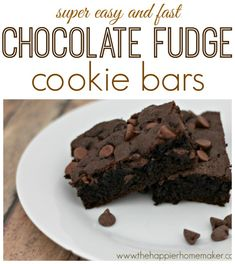 OMG these look awesome!! (and easy!) Chocolate Fudge Cookie Bars