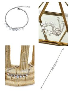 """Pai line crystal twinkling Silver bracelet"" by oceanfashion on Polyvore"