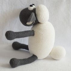 haakhooked: Gehaakte knuffel Shaun the Sheep