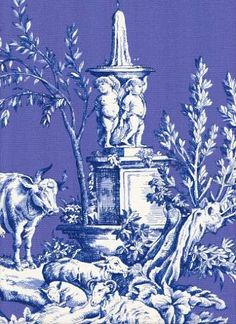 Toile from Duralee - beautiful color combination