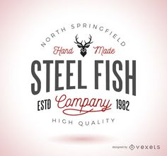 Vintage logo template design in a hipster style. This design features different typography styles, lettering, and more.