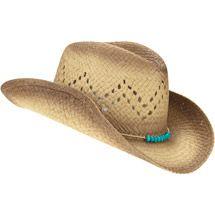 Walmart  Women s Straw Cowboy Hat with Bead Cord Trim 6  Womens Straw Cowboy  Hat b031c602d03