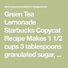 how to make starbucks iced green tea lemonade