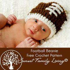 Football Hat | Free Crochet Pattern