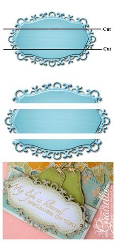 Graciellie Design - Altered Die Cuts, Spellbinders Fancy Label Tags One, Spellbinders French Frills