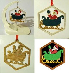 05-wp-428 - Santa And Sleigh Downloadable Scrollsaw Woodworking Plan PDF…