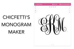 Chicfetti's monogram maker allows you to make your own monogram online. Use our maker to make circle monograms, wedding monograms and more! Monogram Wallpaper, Monogram Wall Art, Vine Monogram, Monogram Design, Monogram Wedding, Monogram Letters, Wedding Monograms, Monogram Jewelry, Monogram Logo