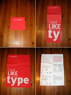 Typographic Folded Poster by Emanuel Barreira, via Behance