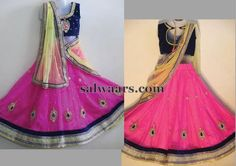 Pink Half Saree Available For Kids