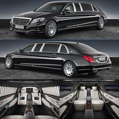 Mercedes-Maybach S 600 Pullman Guard 2017 Flagship da divisão de luxo da Mercedes essa limousine pesa 5.1 toneladas e oferce quatro assentos para passageiros super VIPs. Tem 6.6m de comprimento com incríveis 4.441m de distância entre-eixos. O motor é um 5.9 V12 de 530 cavalos e torque de 830 Nm a 1.900 rpm. A velocidade é limitada eletronicamente em 160 km/h. Pode vir equipada com sirenes giroflex e sistema de comunicação externa (altofalantes e microfone) dentre outros. #CarroEsporteClube…
