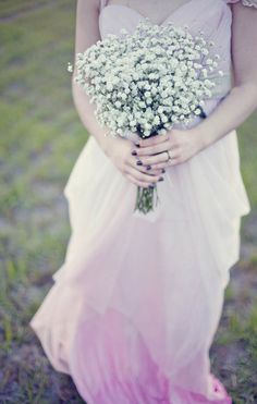 Pink/purple ombre wedding dress