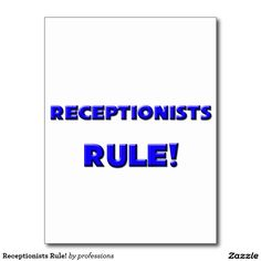 Receptionists Rule! Postcard
