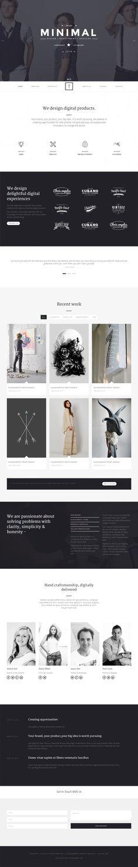 T-ONE Clean . Minimal WordPress Theme . CreAtive Web Themes . design insiration . web layout . full-screen