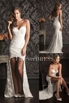 Affordable White Wedding Dresses for Women Made of Lace Sweetheart. #sweetheart #white #fashion #modern #lace