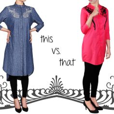 The collection which we are offering in this article contains women fashion wear stuff contains women stylish kurtis and women shirts. Color contrast used in them black, red, green etc. These shirts are of different styles and...More pictures and stuff at http://www.newfashioncorner.com/women-winter-wear-casual-kurti-dresses-by-yellow/