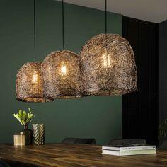 Loftlampe i antik kobber finish