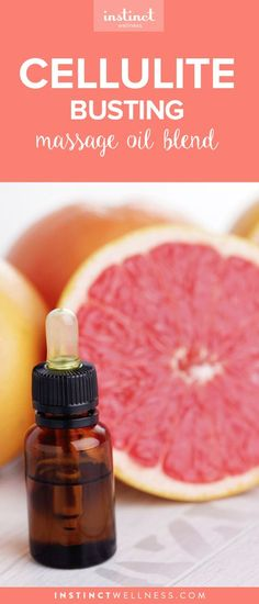 This cellulite busting massage oil contains grapefruit essential oil, an amazingly effective ingredient against the toughest cellulite.