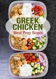 - Greek Chicken Bowls Recipe (meal preparation easy) r -Greek Chicken Bowls Recipe (meal preparation easy) . - Greek Chicken Bowls Recipe (meal preparation easy) r - Meal Prep Bowls, Easy Meal Prep, Healthy Meal Prep, Healthy Drinks, Healthy Cooking, Healthy Snacks, Healthy Eating, Healthy Recipes, Keto Meal