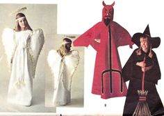 1969 children costume ANGEL DEVIL WITCH sewing pattern. My mom sewed the Devil costume for me :)