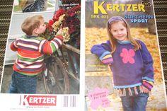 Second Silver - Kertzer Knitting pattern 401 Northern sport flower Power pullover 4 patterns kids Sz2-10
