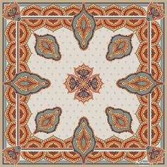 Surrounded by Sentinels, a Designer Silk Scarf by BCbandana