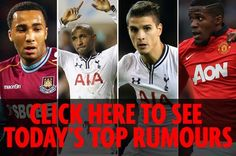 MANCHESTER EVENING NEWS Manchester United will look to bring in four left-footers in the summer transfer window  Ivan Perisic Danny Rose Mesut Ozil and Antoine Griezmann. Chelsea boss Antonio Conte has said Manchester Citys ability to bring in their first targets over the summer has allowed them to improve a lot.LONDON EVENING STANDARD Erik Lamela could make his first appearance since last Octobers EFL Cup match against Liverpool when Tottenham travel to Leicester on Tuesday. Thibaut…