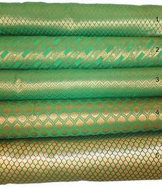 Useful Pur Saris En Soie à Imprimé Floral Déco Craft Tissu Vintage Utilisé Vert 5yd Discounts Sale Vêtements, Accessoires
