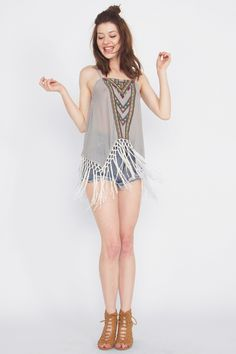 Festival Ready Top | Haute Attitude I would LOVE it if it had straps