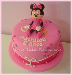 Girly Minnie Mouse Cake