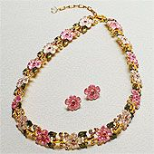 Smithsonian cherry blossom necklace.
