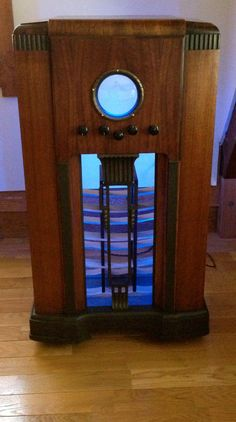 Antique Radio Wine Liquor Bar LED Showcase 1940's by Illumetery, $1250.00