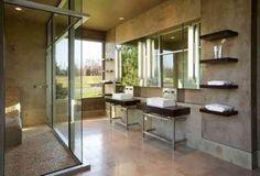 étagères de salle de bain en bois