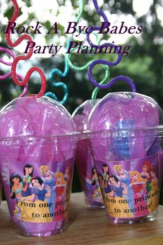 Disney Princess Birthday party favors party planning girls. $14.00, via Etsy.