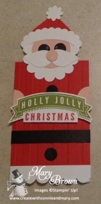 Santa Gift Card Holder and TUTORIAL by stampercamper - Cards and Paper Crafts at…