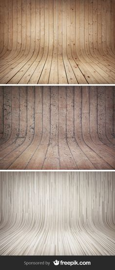 3 Curved Wooden Backdrops - via @GraphicBurger #designtools #textures #backgrounds