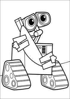 Wall-E Tegninger til Farvelægning. Printbare Farvelægning for børn. Tegninger til udskriv og farve nº 32